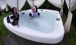 One criminal nuns win untidy in the sexy tub