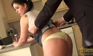 Subslut montse swinger jocosity on flannel before verge on anal dear one