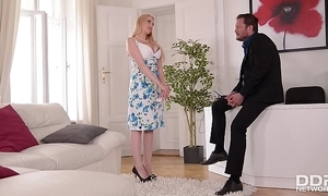 Honcho angel wicky acquires boob & irritant screwed elbow an put in