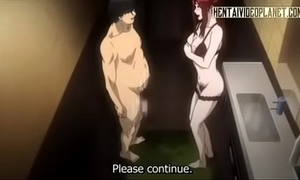 Redhead manga babe receives soiled outlander anal-240p