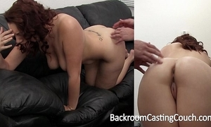 Big titty second-rate painful major anal on casting divan