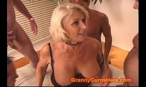Granny acquires a band bang and cum bath