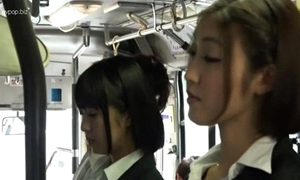 Oriental lesbian babes nearby bus