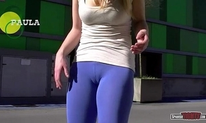 Spanish girls in the same manner cameltoe