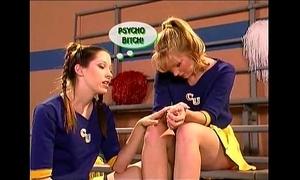 Lesbian cheerleader teens scene