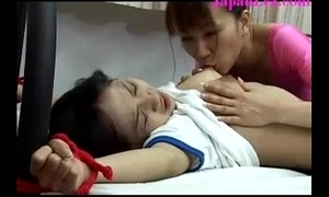 Japanese young girl tied all over coupled with molested