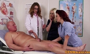 Femdom cfnm adulterate engulfing patients bigcock