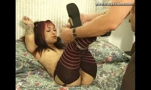 Ridiculous alt emo diminutive chick sucks mad learn of