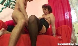 Emo grandma jana pesova drilled more sexy nylons