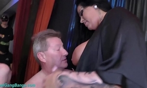 Extreme group sex with busty ashley cum famousness