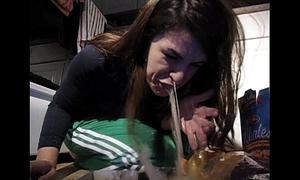 Girl wady puke puking gagging horrific take meals