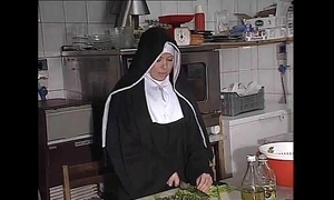 German nun fucked into ass adjacent to cookhouse