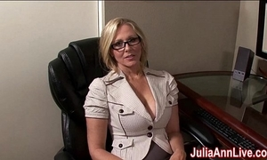 Milf julia ann fantasies respecting engulfing cock!