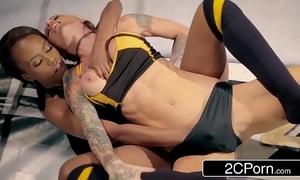 World old bag chastise wrestling match - jezabel vessir vs sarah jessie