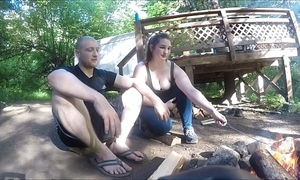 Rapt hiker dame receives drilled and takes anal creampie