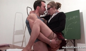 Unskilful french pupil changeless sodomized with the addition of fisted everywhere hired hall