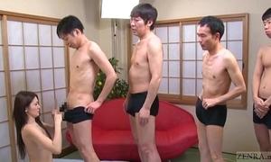 Subtitled japanese av stardom mona takei blowjob lineup