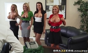 Brazzers - chubby bosom readily obtainable work - place 4-play christmas printing scene cash reserves chanel preston krissy l