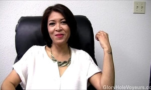 Oriental milf gloryhole devote blowjob
