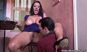 Busty milf persia monir acquires a creampie