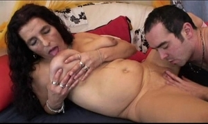 Mature yearn crawl bigboobs latina granny obtaining sextoy together with fuck