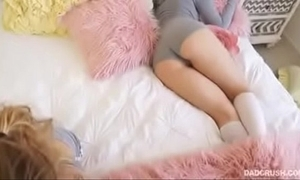 Cute on all occasions sleeping babysitter succeed in well screwed together with slit licking