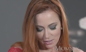 Mom sexy redhead sucks and copulates flesh man up ahead sexy creampie