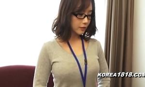 Korea1818.com - sexy korean latitudinarian wearing glasses