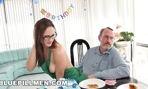 Blue wet blanket men - superannuated men party with a juvenile hottie named akira flame fire