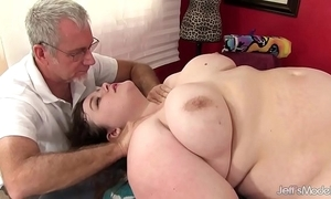 Sexy fatty sapphire rose receives a sexual connection palpate