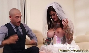 Be in charge cackling bride fucked