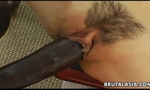 Smoking hot oriental bitch has a black cock to ride
