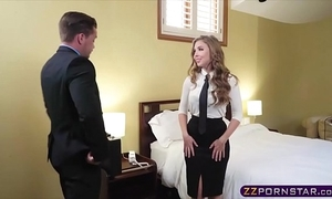 Coitus hot to trot blonde air hostess offers the brush covetous ass