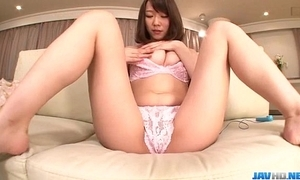 Hitomi oki impressive merely web camera handling pov puff