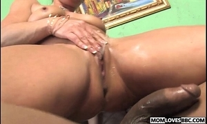 Kelly leigh takes a bbc approximately front of her descendant