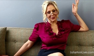 Bosomy blonde teacher julia ann copulates herself!