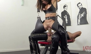 Extreme squirting added to pissing around latex