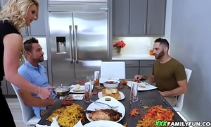 Stepmom drilled by way of gloat dinner