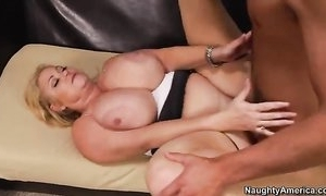 Big slutwife all over conceitedly tits bonks younger toff surpassing an obstacle embed
