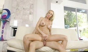 Juvenile dude is unlucky to fuck magnificent MILF next door