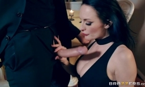 Raven-haired dirty slut wife gets sodomized at Valentine's Fixture