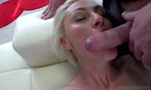 Hungarian blondie not far from unproficient boobs takes on grown Italian cock