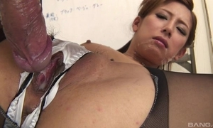 Japanese office babe receives fucked hard browse dramatize expunge hole close by their way boxer shorts