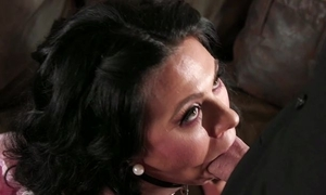 Fringy alms-man fucks dark-haired white bitch up the living room