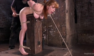 Redhead philander gets tied relative to plus racking adjacent to an obstacle dungeon